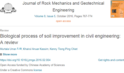 مروری بر کاربرد بهسازی بیولوژیکی خاک در مهندسی عمران