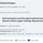 مکانیک خاک و روش های مشاهده ای، چالش های پیش رو در تاسیسات سد باطله معدن مس زلانزی