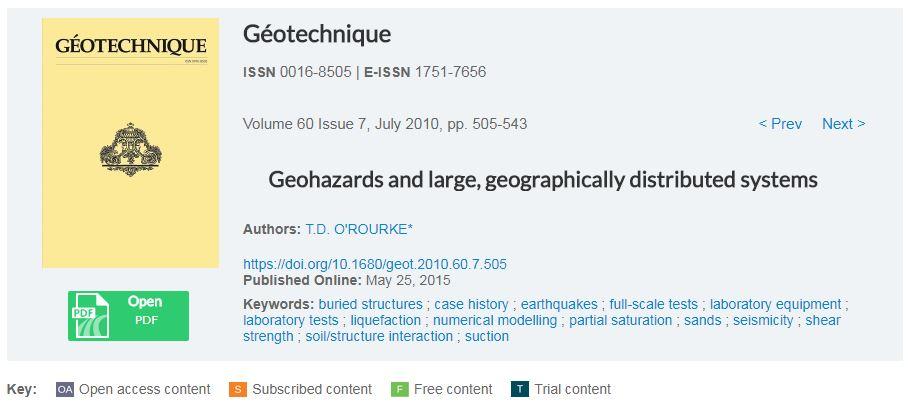 مخاطرات ژئوتکنیکی و سیستم های جغرافیایی وسیع