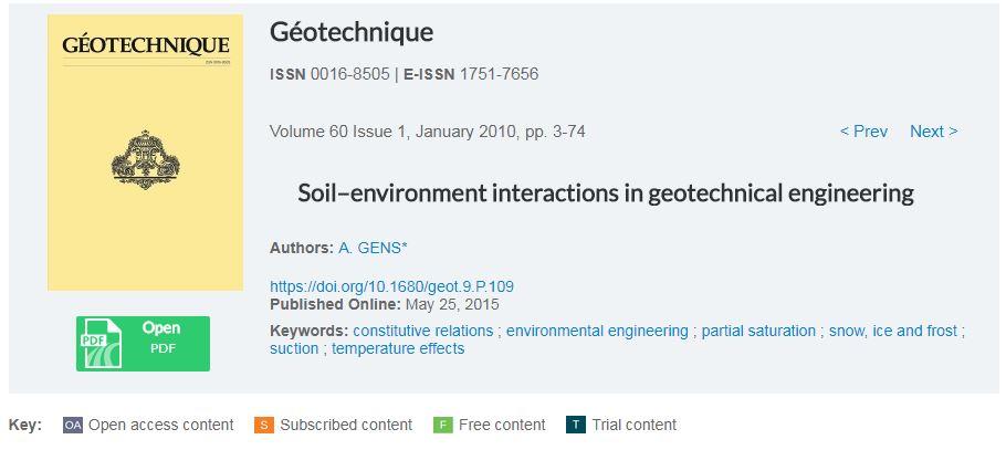 اندرکنش های خاک و محیط در مهندسی ژئوتکنیک