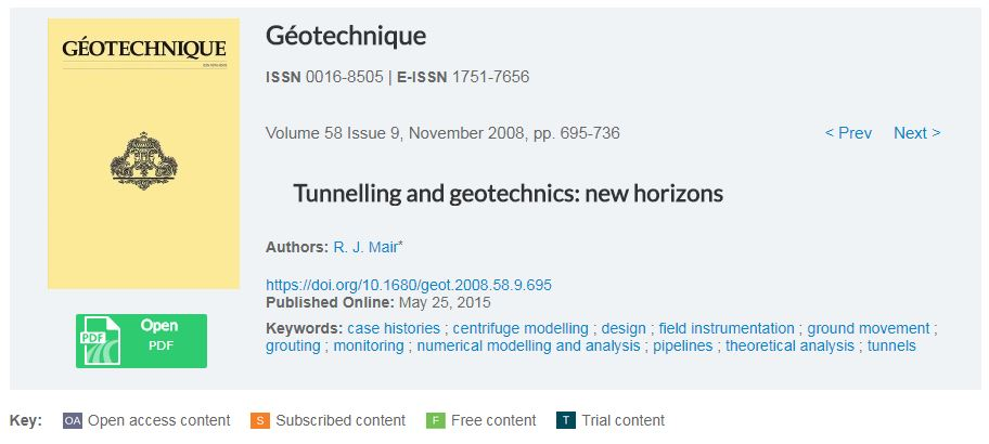 tunnelling and geotechnics new horizons Introduction for the 46th rankine lecture tunnelling and geotechnics: new horizons relationship between tunnelling and geotechnics is high.