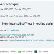 سختی غیر خطی خاک در طراحی های روزمره