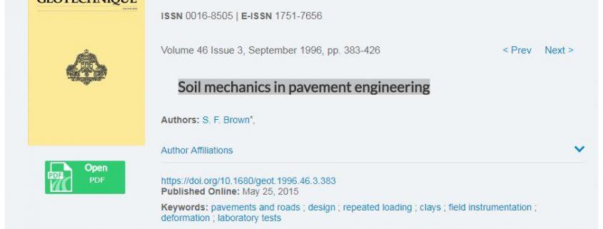 مکانیک خاک در مهندسی روسازی راه ها