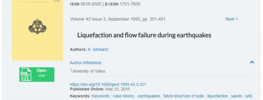 روانگرائی و شکست جریانی در هنگام زلزله
