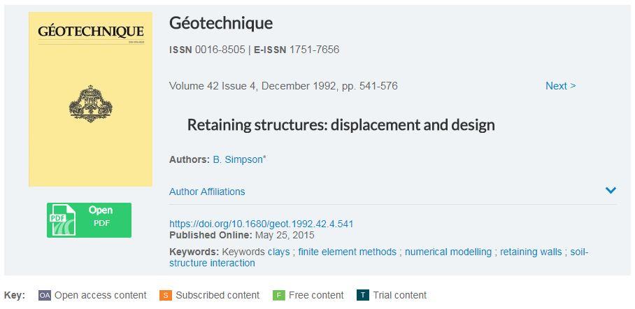 سازه های حائل، طراحی و میزان جابجایی ها