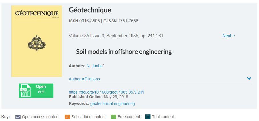 مدل های رفتاری خاک در ژئوتکنیک دریایی