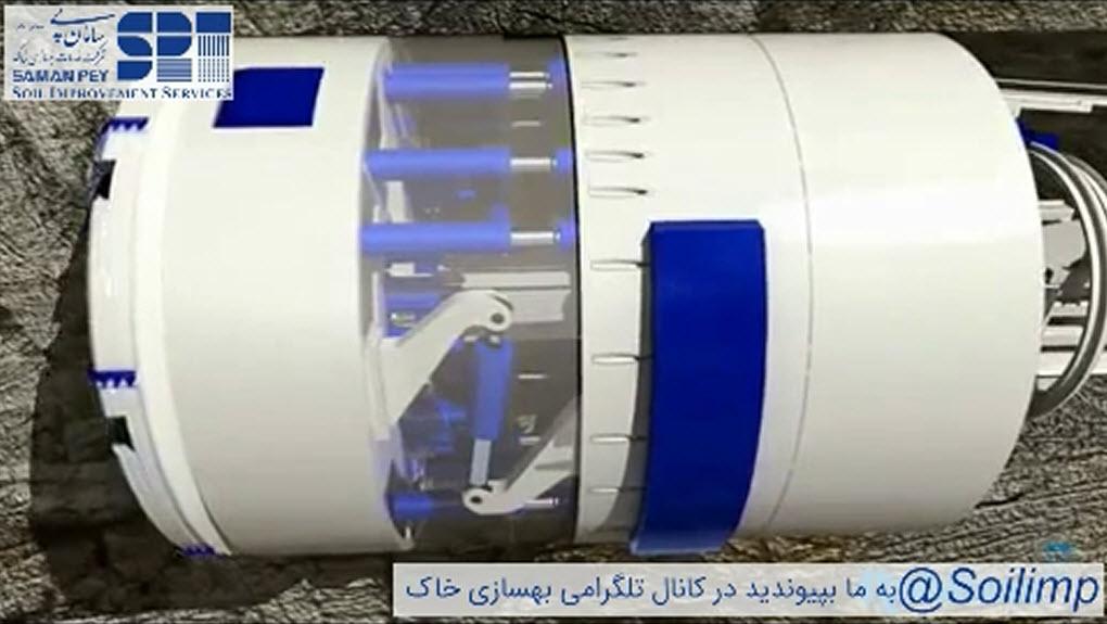 دستگاه حفاری تونل تی بی ام (TBM) دو پوششه